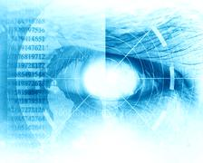 Eye scan with soft lines Stock Illustration