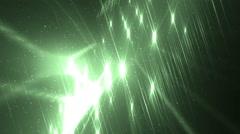 Disco spectrum lights concert green spot bulb. - stock footage