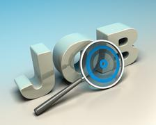 job search concept - stock illustration