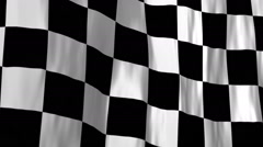 Stock Video Footage of Checkered racing flag