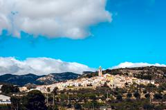 Stock Photo of Picturesque Rossell town. Province of Castellon in the Valencian Community
