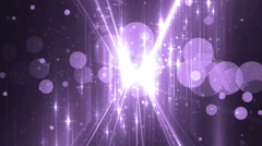 Moving gloss particles on violet background. Stock Footage