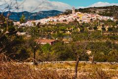 Stock Photo of Rossell town. Province of Castellon in the Valencian Community, Spain.