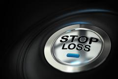 Stop loss, trading concept - stock illustration