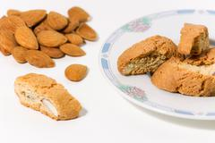 Cantuccini, original Italian almond cookies - stock photo