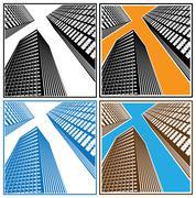 Skyscrapers Stock Illustration