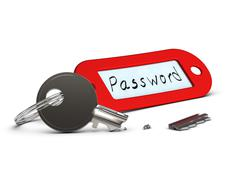 unsecure password - stock illustration
