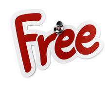 Free label or sticker Stock Illustration