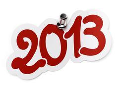 2013, two thousand thirteen sticker Stock Illustration
