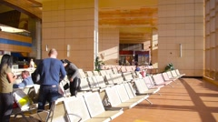 Sharm el sheikh airport interior 1 Stock Footage