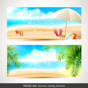 Stock Illustration of Summer holiday banners
