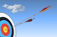 Archery, bulls-eye Stock Illustration