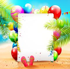 Beach party - stock illustration