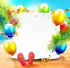 Beach party Stock Illustration