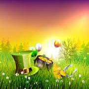 St. Patrick's Day background - stock illustration
