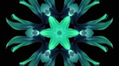 Vj Loop Vintage Psychedelic  Organic Kaleidoscope Stock Footage