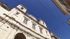 Church of St. Catherine located at Calçada do Combro Lisbon, steady cam - stock footage