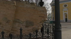 Part of Old Wall of Former Dormition Cathedral Holy Dormition Kiev-Pechersk - stock footage