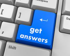 get answers - stock illustration