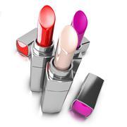 Three lipsticks over white Piirros