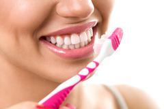 Stock Photo of Brushing teeth, dental hygiene
