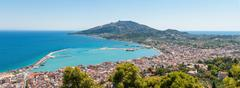 Panoramic view of Zakynthos city Stock Photos