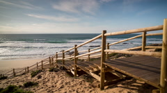 Portugal beach wild coast atlantic nature environment Stock Footage