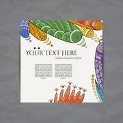 Stock Illustration of Vector design templates. Brochures in random colorful style. Zentangle designs