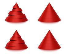 3d conical shape sliced, 6 or 7 levels Stock Illustration