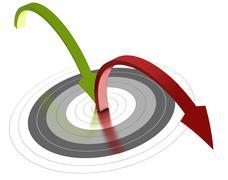 bounce rate, web marketing - stock illustration