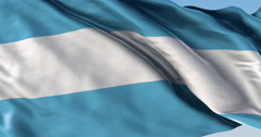 Ultra realistic looping flag: Argentina Stock Footage