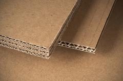 corrugated cardboard - stock photo