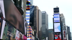 Digital Ads and Billboards in Times Square, Manhattan, New York Stock Footage
