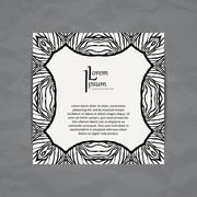 Set of vector design templates. Business card with adstract circle ornament - stock illustration