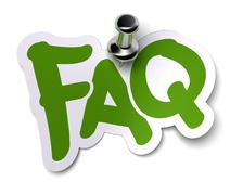 Green FAQ sticker - stock illustration