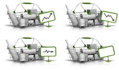 average basket value or size - pricing concept - stock illustration
