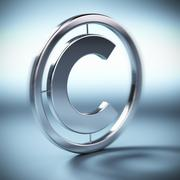 copyright symbol background - stock illustration