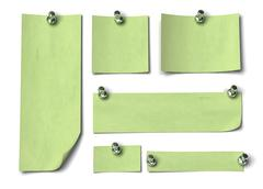 Set of green notes - stock illustration