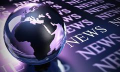 Worldwide news background Stock Illustration