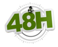 fourty height hours shipping - stock illustration