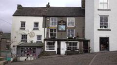 Alston England rural town old pub shop market 4K Stock Footage