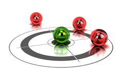 Competitive advantage concept Stock Illustration