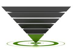 customizable marketing conversion funnel - stock illustration