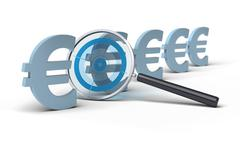 focus on price - euro - stock illustration