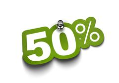 Fifty percent sticker Stock Illustration