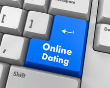 Online dating Stock Illustration