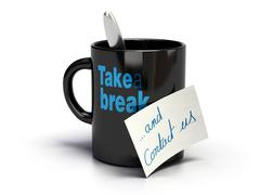 Take a break and contact us - stock illustration