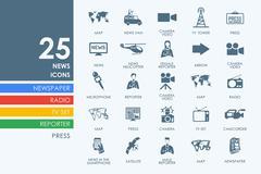 Set of news icons Stock Illustration