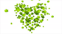 Earth Day ecology green leaves video animation Stock Footage