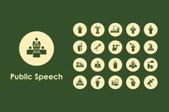 Set of public speech simple icons Stock Illustration